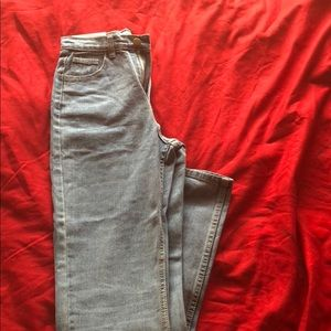 Denim - Dark wash high- waist jeans